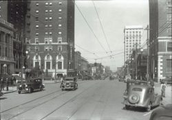 57-14816-Main-Street-from-Poinsett-to-Otteray-cars-trolley-tracks-c.-1930