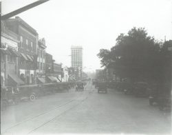 57-14826-North-Main-Looking-South-C.-1922-Gene-Bates-Majestic-Rogers-Metts-James-Furniture-Between-Coffee-E.-Noth-Sts