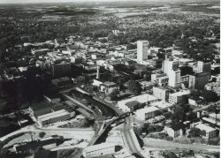 Aerial of Downtown Greenville 1950s