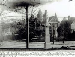 Oscar-Landing-Bk-1-p49a-Mills-Hoke-Home-with-the-confederate-monument-infront