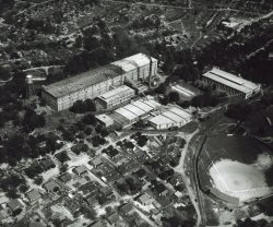Brandon Mill Plant, Houses, Ballpark aerial